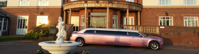 One of our pink limos for hire in Chester